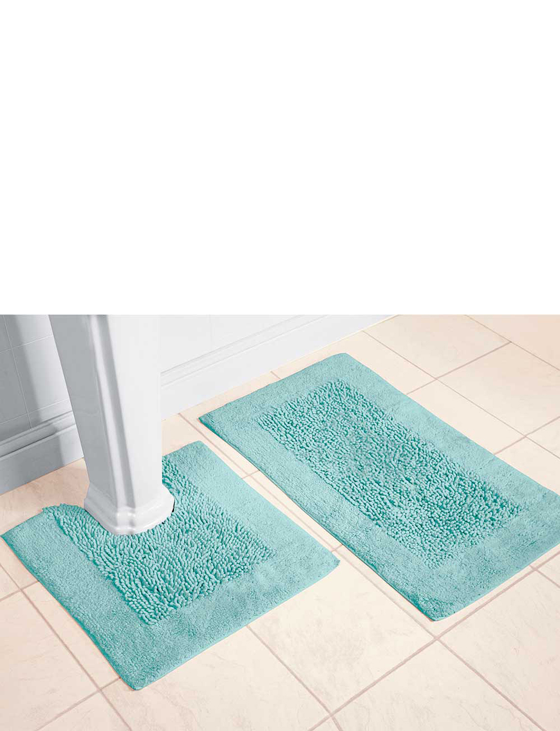 Perfect Fern Bath Rug Is Sculpted With An Allover Fern Design In Either White Or Ivory Fern Bath Rug Is Sculpted With An Allover Fern Design In Either White Or Ivory