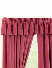 THERMAL VELOUR CURTAINS- Pelmet