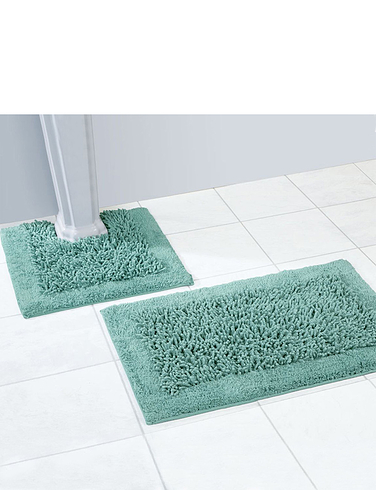 Luxury Weight Cotton Twist 2 Piece Bathmat Set