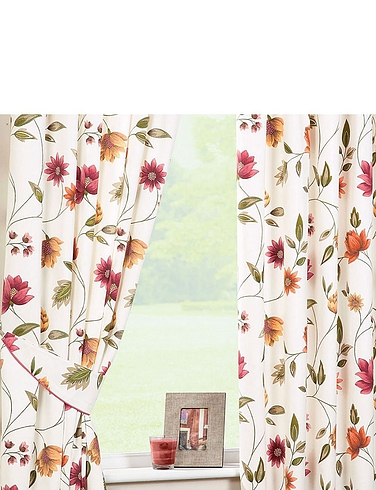 Charlotte Lined Sateen Curtains By Rectella