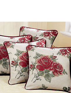 Pair Of Rose Cushion Covers