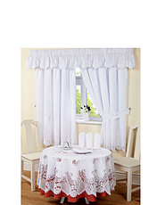 Victoria Lined Lace Curtain Sets & Tablecloths