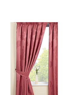 Rosaline Lined Satin Jacquard Curtains