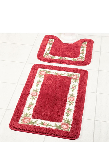 Luxury Supersoft, Extra Absorbant Bath and Pedestal Mats.