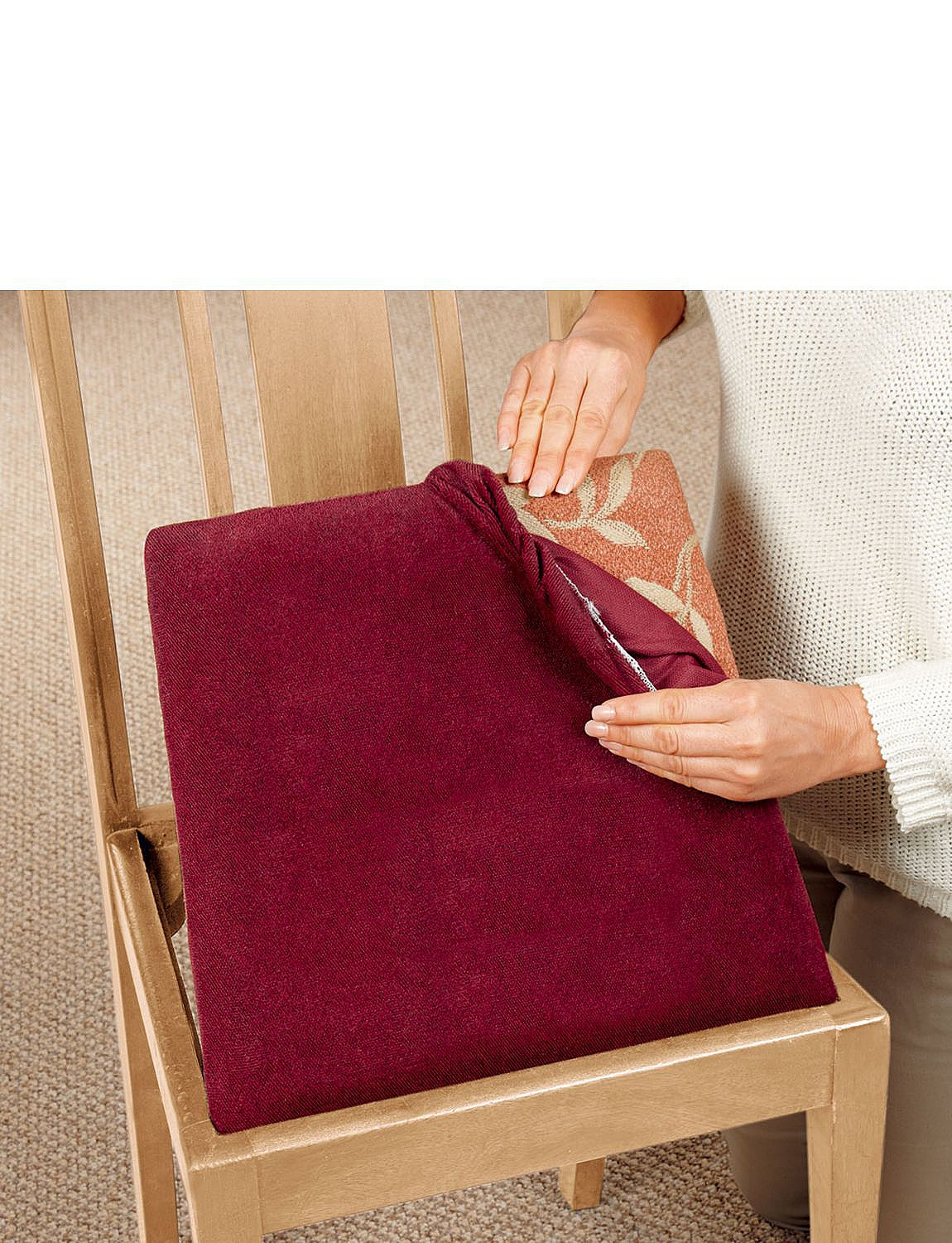 Set Of 4 Standard Stretch Covers For Dining Kitchen Chairs Home