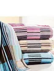 Supreme Luxury Weight Stripe Towels By Christy
