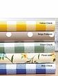 Wipe Clean Vinyl PVC Tablecloths - Gingham Check