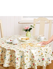 Wipe-Clean Vinyl PVC Julliet Floral Tablecloth