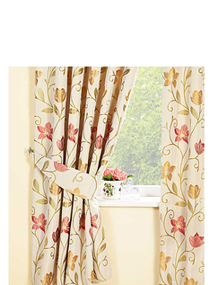 Canterbury Luxury Lined Jacquard Curtains By Rectella