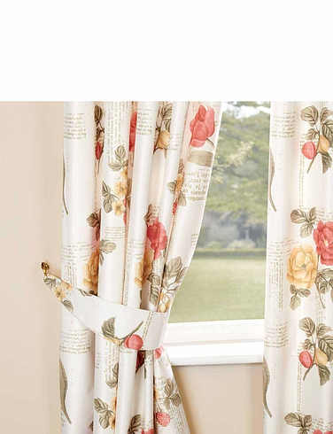 Fleur Faux-Silk Thermal Blackout Curtains