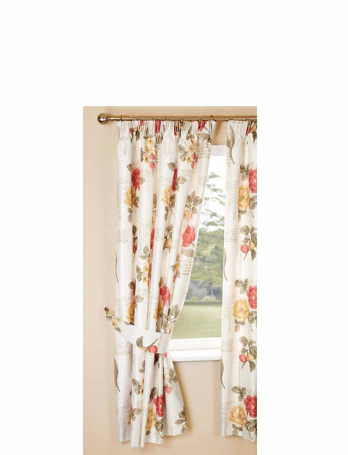 Fleur Faux Silk Thermal Blackout Curtains Chums