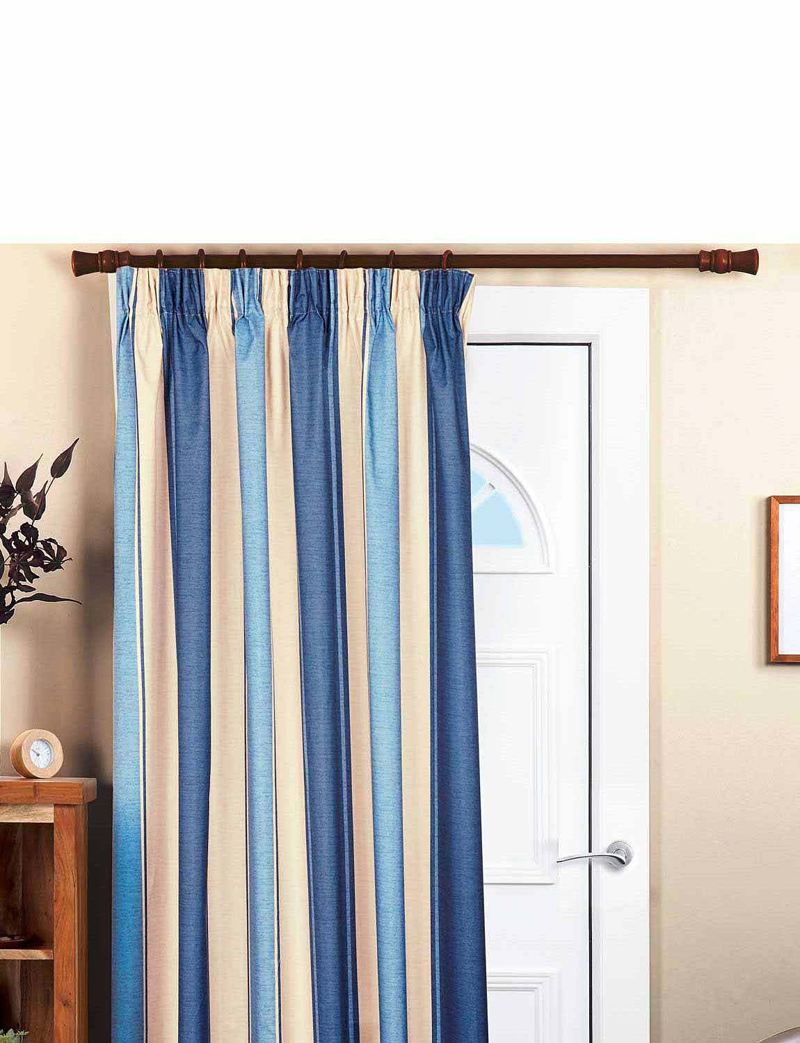 Striped Faux Silk Thermal Blackout Curtains Chums