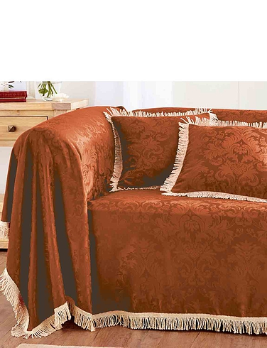 Damask Furniture Two Seater Throw