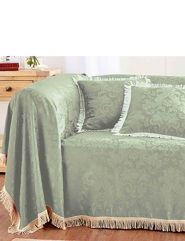 Damask Furniture Three Seater Throw
