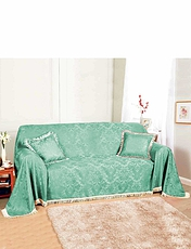 Damask Furniture 3-Seater Throw Set