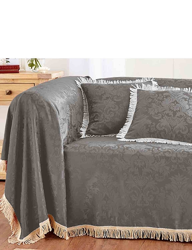 Damask Furniture Throw 3 Seater Set