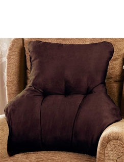 Faux Suede Back Support Cushion
