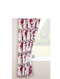 Renoir Lined Curtains By Rectella-Ring Top Heading
