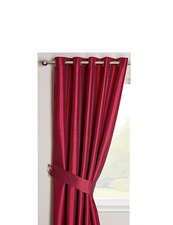 Faux-Silk Blackout Curtains - Eyelet Heading