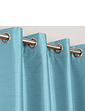 Faux-Silk Blackout Curtains-Eyelet Heading