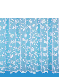 2 Yards - Butterfly Meadow Made to Measure Lace curtains - 2 Yards