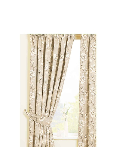 Rosamund Lined Cotton Panama Curtains, Tie-Backs and Cushion Covers