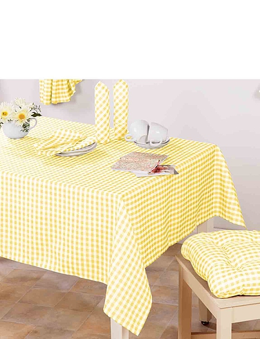 Country Gingham Kitchen Tablecloth
