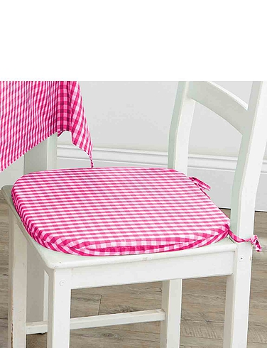 Country Gingham Kitchen Seat Pad