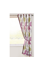 Avril Lined Cotton Panama Curtains Eyelet Heading