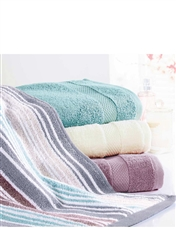 Stripe Egyptian Cotton Towels By Christy