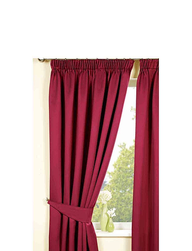 Plain Satin Blackout Curtains
