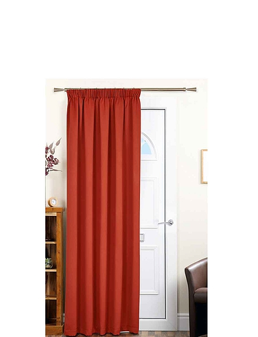 Plain Satin Door Curtains