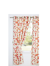TULA LINED EYELET CURTAINS- TIE BACKS