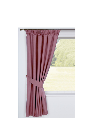 CANVAS BLACKOUT CURTAINS-Tie-Backs