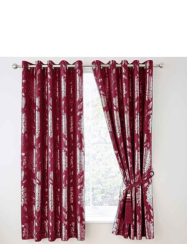 Elainie Heavyweight Jacquard Eyelet Curtains