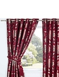 Elaine Heavyweight Jacquard Eyelet Curtains