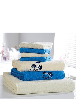 7 Piece Embroidered Towel Bale
