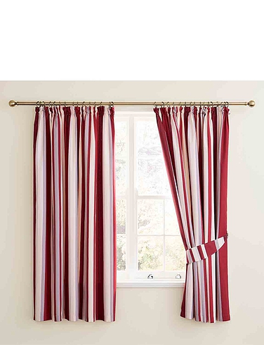 Hampton Stripe Lined Curtains