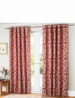 Orla Jacquard Lined Eyelet Curtains