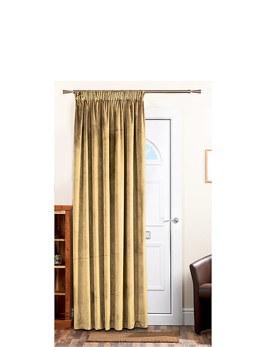 Lined Velour Door Curtain