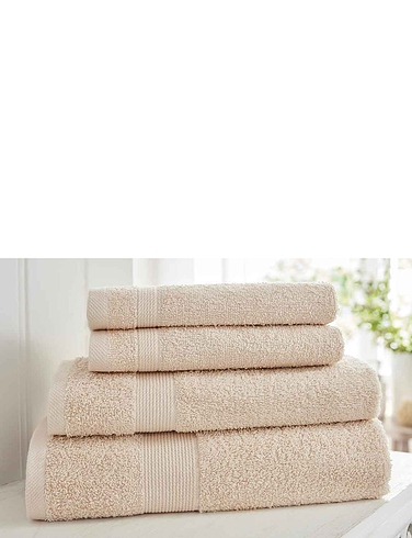 4 Piece Luxury Weight Plain Towel Bale