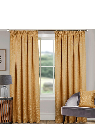 Classic Jacquard Lined Curtains