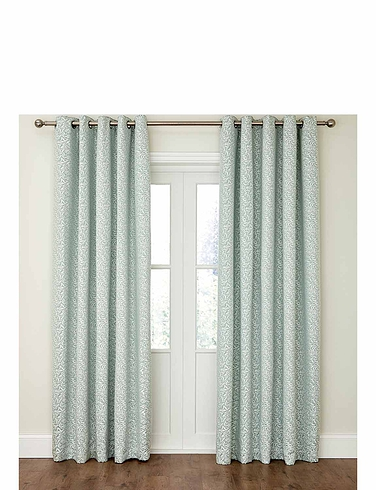 Willow Lined Eyelet Curtains