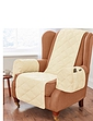 Plain Beige Quilted Furniture Protector