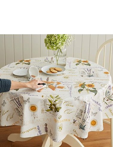 Herbs Wipe Clean Vinyl P V C Tablecloth