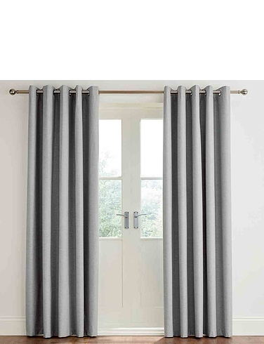 Libby Linen Blackout Eyelet Curtains