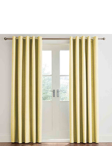 Libby Linen Look Blackout Eyelet Curtains