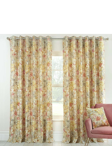 Giverney Sienna Eyelet Curtains