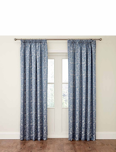 Buckingham Lined Damask Curtains