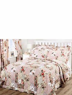 Ellen Quilted Throw-Over Patchwork Bedspread
